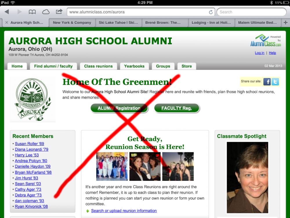 Unofficial Aurora Alumni Website